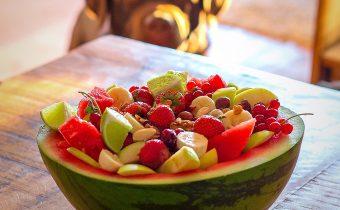 Melón s kúskami ovocia
