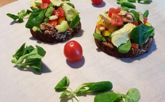 Večerný chlieb so zeleninou