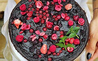 Makovo-čokoládová torta